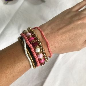 Jewelry - 7 Layer Coral Boho Bracelets